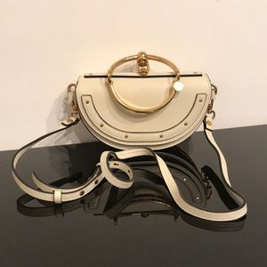 CHLOE NILE MINAUDIERE LEATHER CROSSBODY BAG